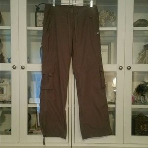 NIKE womens taupe cargo pants.  Size - Small